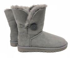 Ugg Australia Bailey Button Classic Short Grey Gray 5803 Women's sheepskin Boots