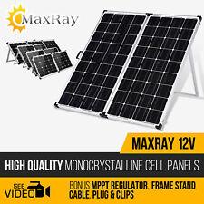 NEW MAXRAY Camping Folding Solar Panel 12V 100W 120W 140W 160W 180W 240W