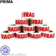 PRIMA FRAGILE PRINTED STRONG PARCEL TAPE MULTILISTING 12 6 24 36 48mm 66m