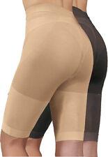 Figurformer Panty, beige + schwarz, hoher Hüftbereich, extra Beinlänge