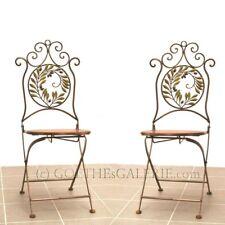 Stühle 2 Stück Stuhl SHABBY Chic Metall Möbel golden