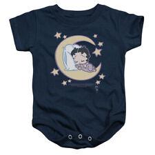 Betty Boop Sleepy Time Unisex Baby Snapsuit NAVY