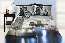 London Quilt Doona Cover Set UK United Kingdom Castles Single Double Queen SALE