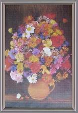 Grande pannello 92x62 vaso di fori multicolori puzzle già montato e in cornice