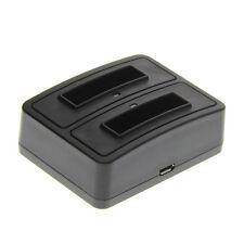 Duo batería cargador para Sony dsc-w30 cargador bateria, estación de carga