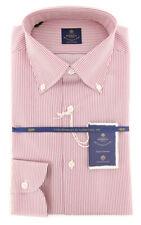 New $600 Luigi Borrelli Red Shirt - Extra Slim - (EV06402341STEFANO)