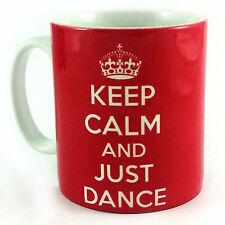 NEW KEEP CALM AND JUST DANCE GIFT CUP MUG PRESENT DANCER TEACHER STUDENT SCHOOL