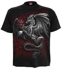 SPIRALE Diretta Dragon ROSE T SHIRT, Biker / tatuaggio / ROCK / Scuro Usura / unisex / alto / Tee
