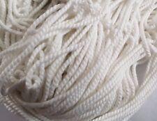 FILO Intrecciato 2mm colore Bianco Stringa Corda Corda Craft cucito fai da te