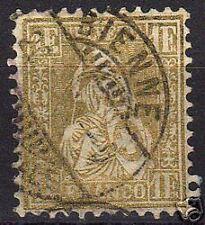 Switzerland 1881 YV 57 repaired perf CANC  Fine