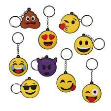 Schlüsselanhänger Emoji Emoticon Smily Smiley Smilie Anhänger aus Gummi