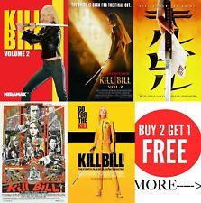Kill Bill: Vol.1 , Vol 2 Posters A0-A1-A2-A3-A4-A5-A6-MAXI in sizes C346