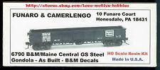 Funaro F&C 6790  BOSTON & MAINE  MEC CENTRAL Gondola GS Steel  B&M  BM Resin Kit