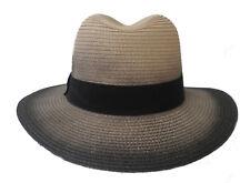 Herren Hut klassischer Strohhut Kofferhut Sonnenschutz Urlaub Garten Freizeit