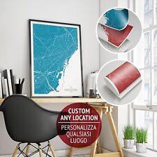 Stampa Giclee Barcelona Art Print Poster Design Mappa Alta Definizione Decor B&B