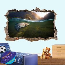 PESCA TROTA LAGO ACQUA 3d Adesivo Parete rotte Room Decor Decalcomania Murale yr5