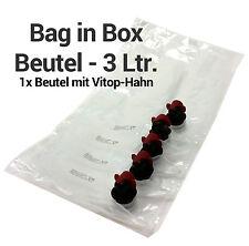 3 Liter Bag in Box Beutel - 1 Stück Beutel mit Vitop-Hahn 3 Liter