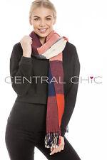 FEMMES GRAND Tartan à carreaux écharpe pashmina enveloppante châle COUETTE