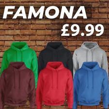 Plain Famona Mens Women Pullover Hoodie Boys Warm  Hood Sweatshirt Hooded