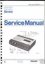 Philips original Service Manual para grabador n 2415