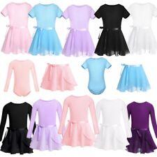 Girls Ballet Dress Ballerina Dancewear Kids Tutu Skirt + Leotard Dancing Costume