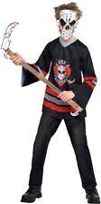 Bloody Face Off Jason Halloween Freddy Age 8-14 Kids Boys Fancy Dress Costume