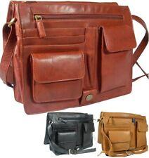 Ladies Large Visconti Multi Compartment Soft Leather Messenger Bag Organiser