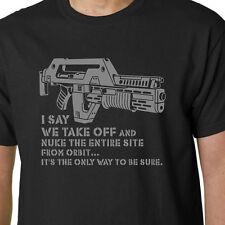 ALIENS Nuke From Orbit t-shirt M41A PULSE RIFLE FILM HICKS RIPLEY ALIEN SLOGAN