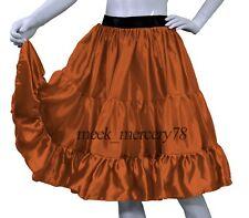 Gold  Satin 3 Tiered Short skirt Belly Dance Skirt  casual skirt Sexy Dress S62