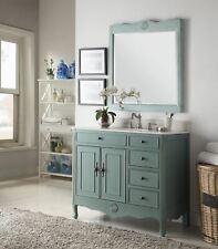 """38"""" Benton Collection Distressed Vintage Blue Daleville Bathroom Vanity HF837Y"""