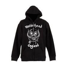 Official Licensed Men's Motorhead England Black Zip-Up Hooded Jacket