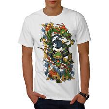 Wellcoda Dragon Face Japan Mens T-shirt, Dragon Graphic Design Printed Tee