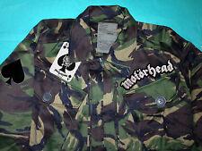 Motorhead Ace Of Spades Camouflage Woodland Army Jacket War-Pig Road Crew Metal