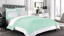 2 piece Border Reversible Pillowcase 1000 TC Egyptian Cotton All Size & Color