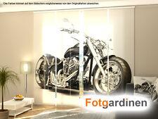 Fotogardinen Motorrad, Flächenvorhang Schiebegardinen mit Motiv, auf Maß