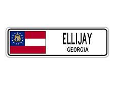 Ellijay, Georgia Street Sign Georgian Flag City Country Road Wall Gift
