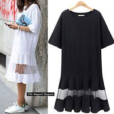 Vestito Abito Donna Inserto Trasparente - Woman Midi Transparent Dress 110309