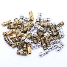 50pcs Perle Tube Colonne 8*3mm Tibétain Antique Rétro Pour Bracelet Collier