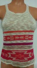 Sweet and Sinful Crochet Loose Knit Racerback Tank Top Sz Junior Jr M L 721
