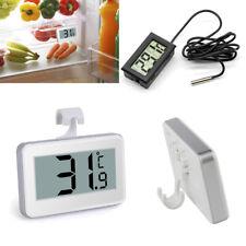 Digital LCD Refrigerator Freezer Thermometer Aquarium Fridge Sensor Hanging Hook