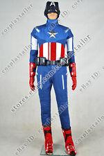 The Avengers Captain America Steve Rogers Uniform Cosplay Costume Full Set Cool