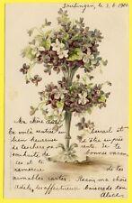 cpa LITHO Artist, MUNCHEN FANTAISIE Dos 1900 CHANDELIER de Fleurs Flowers