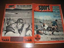 SPORT ILLUSTRATO 1954/1 INTER PALERMO COPPA DAVIS BOXE RAY GRASSI FANFULLA