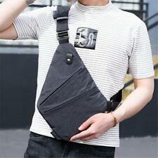 Men Canvas School Sling Chest Pack Crossbody Messenger Travel Shoulder Bag LC