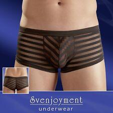 Svenjoyment Herren Pants Hipster Transparent Schwarz Boxer Streifen S M L XL 2XL