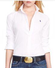 POLO Ralph Lauren women's manica lunga camicie bianche