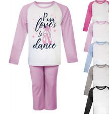 Personalised Love to Dance Pyjamas Girls Pyjamas Christmas Gifts Custom Ballet