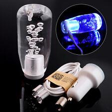 Manual Car Gear Shift Knob Shifter Lever Crystal Bubble LED Light Accessory Z5A6