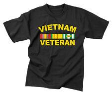Rothco 66540 Vietnam Veteran T-Shirt- 60% Cotton / 40% Polyester- Black