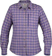 Fjäll Räven Abisko Hike Camiseta Ls Mujer Púrpura Langarm-Damenfunktionshemd